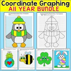 Coordinate Plane Graphing activities for all holidays Graphing Activities, End Of Year Activities, Teaching Math, Maths, Teaching Ideas, Early Finishers, Holiday Pictures, Too Cool For School, Math Centers