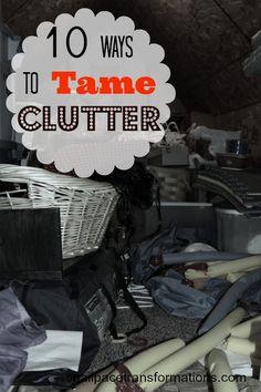 tame clutter, idea, clean, organ, bust clutter, declutt room
