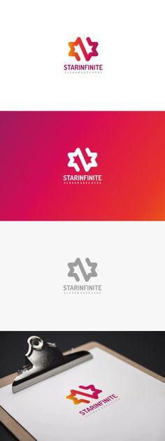 Star Infinite Logo Template AI, EPS