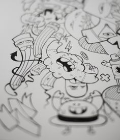 Mad Zoom by Gunnar Frigaard, via Behance Markers, Mad, Illustration Art, Behance, Drawings, Sharpies, Marker, Sketch, Portrait