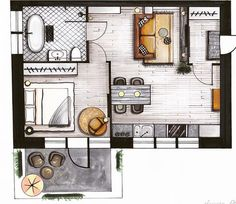 Interior Designers Names - Hotel Interior White - - - Boho Interior Green Interior Architecture Drawing, Interior Design Renderings, Drawing Interior, Interior Sketch, Architecture Portfolio, Interior Design Tips, Architecture Design, Studio Interior, Cafe Interior