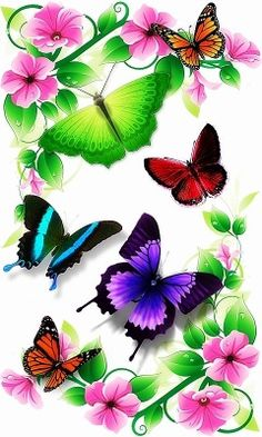 Download flowers and butterflies 240 X 400 Wallpapers - flowers butterflies | mobile9