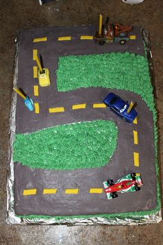 Rev up your kid's birthday with this cute 5th Birthday Car Cake