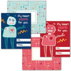 My Heart Beeps for you Valentine free printable