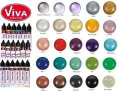 Perlen-Pen * für Textil, Papier & mehr * versch. Farben * VIVA DECOR in Möbel & Wohnen, Hobby & Künstlerbedarf, Basteln | eBay