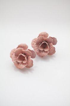 Old Rose Flower Earrings . Cute . Bridal . Wedding . Gift for her . Graduation . Romantic
