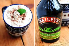Baileys Mint Irish Cream Whipped Topping recipe ~ (click on link for complete recipe)