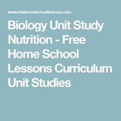 This Biology Unit Study Nutrition resource is a free resource with ideas, printables, and lesson guides for teaching biology which can be related to the topic of exercise and nutrition.