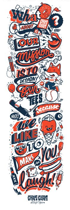 'Mission Chap Chap Funny Wear' Great illustrations with a variety of typefaces and hand-lettering styles on display. Design Poster, Design Art, Logo Design, Design Graphique, Art Graphique, Typography Letters, Graphic Design Typography, Typography Inspiration, Graphic Design Inspiration