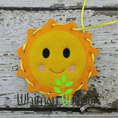 Sun Lacing Card
