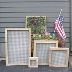 Vertical Mosaic Succulent Living Wall Box KIT 16 inch Square. $90.00, via Etsy.