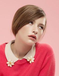 earrings as collar tips...