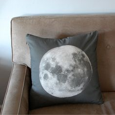 Moon Print Accent Pillow Cover Space Throw by pillarsofcreation, $39.00