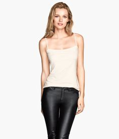 White Jersey Camisole Top $13 @ H&M