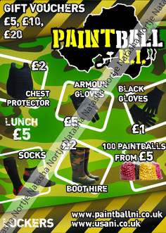 Designed during a placement for a paintball company.