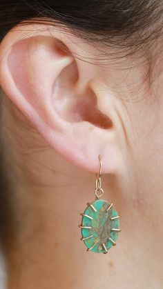 Check out the textures in this Campo Frio Turquoise earrings Hanging Earrings, Drop Earrings, Turquoise Earrings, Birthstones, Texture, Check, Jewelry, Jewellery Making, Jewerly