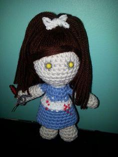 crocheted Bioshock Little Sister amigurumi