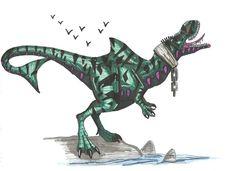Chaos Effect Megalodontosaurus by Hellraptor on DeviantArt Cartoon Dinosaur, Dinosaur Art, Dinosaur Fossils, Jurassic World Hybrid, Jurassic Park World, Monster Art, Monster Hunter, Reptiles, Science Fiction Games