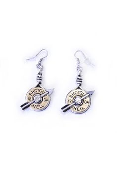Double Shot Earrings - Bronze