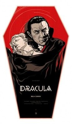Dracula - wood coffin variant silkscreen movie poster (click image for more detail) Artist: Martin Ansin Venue: n/a Location: n/a Date: 2011 Edition: numbered Size: 22 x 38 Condition: NM Tom Whalen, Lugosi Dracula, Omg Posters, Horror Monsters, Classic Horror Movies, Classic Monsters, Alternative Movie Posters, Movie Poster Art, Vintage Horror