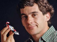 Ayrton with a McLaren toy car :)