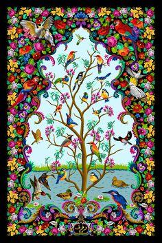 tree of life cross stitch _ diamond painting 's pattern _ artwork of tree of life Fantasy Kunst, Fantasy Art, Tree Of Life Artwork, Tree Of Life Painting, Roots Drawing, Kalamkari Painting, Art Criticism, Cross Stitch Tree, Indian Folk Art