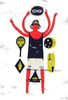 Illustration by Pawel Mildner (from Brown Paper Bag, via Illustrated Ladies) #PawelMildner