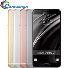 Original Samsung Galaxy C7 mobile phone Android6.0 4GB RAM 32/64GB ROM 16MP Camera 5.7 inch Smart Cell Phone - Get yours at http://s.click.aliexpress.com/e/AUfuzbi #Samsung #Smartphone #Android