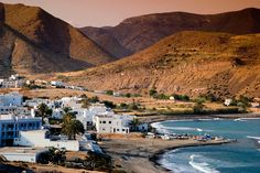 Las Negras village and coastline. Best Holiday Destinations, Vacation Destinations, Beach Vibes, Andalucia Spain, South Of Spain, Portugal, Seaside Village, Spain Holidays, Natural Park