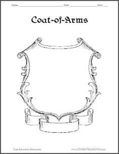 1000 images about nets templates on pinterest box for Make your own coat of arms template