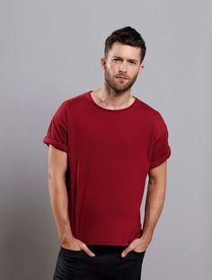 Kostenloses Schnittmuster zum Ausdrucken ❤ Männer T-Shirt ❤ Rundhals ❤ mit kurzem Arm ❤ XS - XL ❤ Tutorial ✂ Jetzt Nähtalente.de besuchen ✂