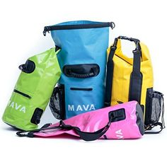 Waterproof Dry Bag for Boating, Kayaking, Fishing, Rafting,Camping,Canoeing & Snowboarding with Zipper Pocket & Water Bottle Pocket – Backpack & Shoulder Straps- Heavy Duty-Lightweight by Mava® | Kayaking Outpost