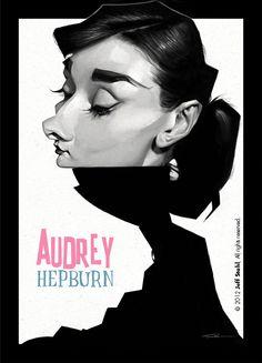 Audrey Hepburn, by Jeff Stahl by JeffStahl.deviantart.com on @deviantART