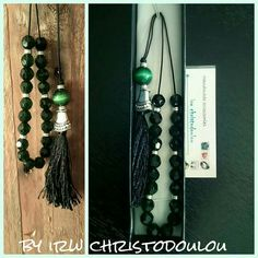 #κομπολόι #kompoloi #colours #kiparissi #dark #green #black #gift #for #men #wedding #birthday #fb #group #handmade #accessories #by #irw #christodoulou Handmade Accessories, Candle Sconces, Wall Lights, Colours, Candles, Group, Lighting, Dark, Birthday