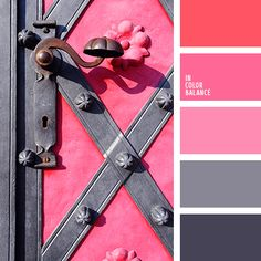 Pink and gray in a sophisticated way.