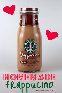 homemade Starbuck's Frappucino = LOVE LOVE LOVE... thanks Karen:)