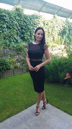Andreea Marin wearing CRISTALLINI #BlackDress #EveningStyle #CocktailDress #Inspiration Red Carpet, Celebrity Style, Feminine, Glamour, Shirt Dress, Elegant, Cocktail Dresses, Romania, Celebrities