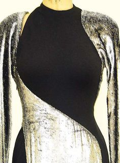 Geoffrey Beene | Dress | American | The Metropolitan Museum of Art Metal Fashion, Dark Fashion, 80s Fashion, Fashion History, Vintage Fashion, Fashion Details, Fashion Design, Vintage Couture, Costume