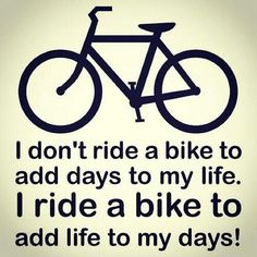 Weer zo'n wijze uitspraak over fietsen!