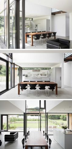 An open dining area in a home in Germany