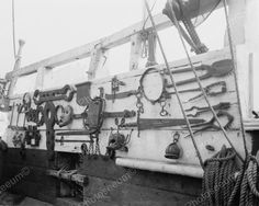 Ships Antique Iron Torture Devices On Display 8x10 Reprint Of Old Photo