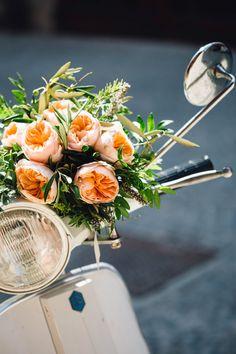 Peach David Austin Roses | Italian Destination Wedding | Peach Colour Scheme | Stefano Santucci Photography | http://www.rockmywedding.co.uk/celine-roberto/