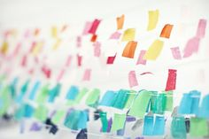 Homemade Wedding Cakes 1 - Once Wed Tissue Paper Garlands, Fabric Garland, Diy Garland, Party Garland, Fabric Bunting, Buntings, Scrap Fabric, Bunting Banner, Fabric Strips