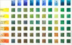 Уроки акварели: базовые упражнения. Цветовая таблица.