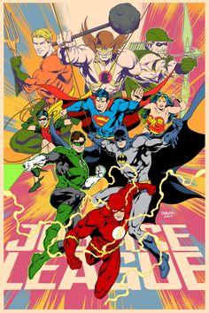 Some great artwork for today. Jason Fabok draws a fantastic Justice League. Arte Dc Comics, Dc Comics Superheroes, Dc Comics Characters, Dc Comics Art, Dc Heroes, Comic Book Heroes, Comic Books Art, Comic Art, Aquaman