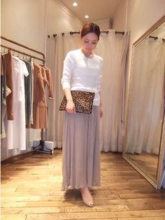 レーヨンマキシスカート、¥16800。