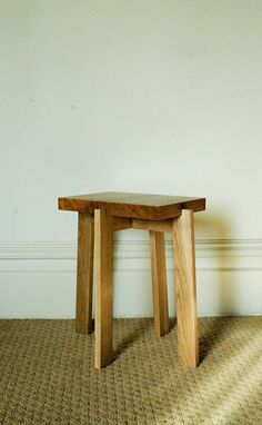 Hand Crafted Japanese Inspired Collapsible End Table by Nathaniel B Klark Finely Crafted Woodwork | CustomMade.com