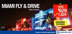 #CostamarTravel Siempre hay un motivo para volver a #Miami Nuestra #oferta FLY & DRIVE incluye:  - Boleto aéreo  - 01 semana de renta de auto con Hertz incluido LDW y millaje ilimitado  Compra hasta 30 Setiembre y viaja hasta 30 Noviembre. No válidos para feriados largos ni fechas festivas --> http://pe.costamar.com/