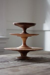 wooden cake stands & Walnut Wood Cake Stand | Wood cake Yards and Display