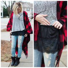 Shirt Extender Black Lace